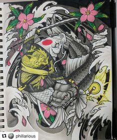 #Repost @phillarious #irezumi #tattoo #tattoosketch #japanesetattoo #japanesetattoodesign #wabori #tattoodesign #horimono #orientaltattoodesign #addflash_ @addflash_