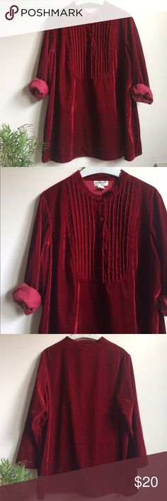 """Vintage Velvet Shirt Dress Vintage dress with vertical pleats, buttons + long sleeves. Oversized shirt worn as dress.    length: 32"""" sleeve: 24"""" NOT ZARA BRAND-just for search results :)  In excellent condition! same day shipping Zara Dresses Mini"""