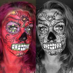 Dia de Los Muertos. Sugar skull. Find me on IG-Kim Whitesel