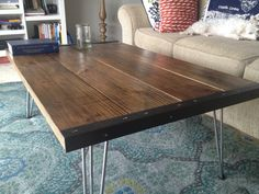 Awesome rustic modern coffee table from Secondhand Night Stand on Etsy.com