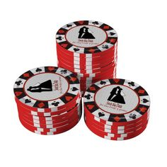 Save the Date Las Vegas Poker Chips