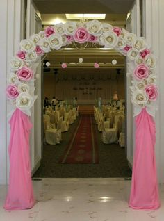 Welcome Wedding Ceremony Flowers, Paper Flowers Wedding, Paper Flower Wall, Paper Flower Backdrop, Quince Decorations, Flower Decorations, Alter Decor, Prom Themes, Wedding Themes