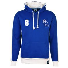 Show details for Sheffield Wednesday Number 8 Retro Hoodie - Royal/White