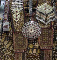 Turkmen jewelry and textiles.