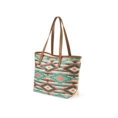 Aztec Printed Tote (€14) ❤ liked on Polyvore