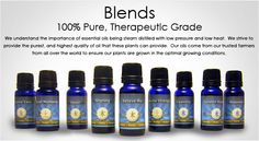 Rocky Mountain Oils - essential oil blends.  I love these oils!