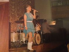 Me singing back in the eighties on the clubs