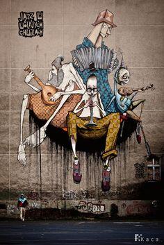 Jazz in free times Wall Mural by Etam Cru
