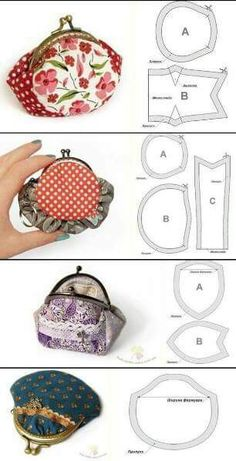 Best 11 diy, tutorial, how to, instructions – SkillOfKing. Diy Coin Purse, Coin Purse Pattern, Coin Purse Tutorial, Small Coin Purse, Wallet Pattern, Purse Patterns, Patchwork Bags, Quilted Bag, Frame Purse