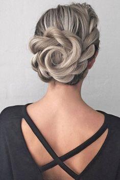 Fancy Updos for Medium Length Hair ★ See more: http://lovehairstyles.com/fancy-updos-for-medium-length-hair/ #UpdosBraided