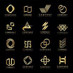 2b7f5e34f Conjunto de vetor de idéias de design de logotipo de empresa
