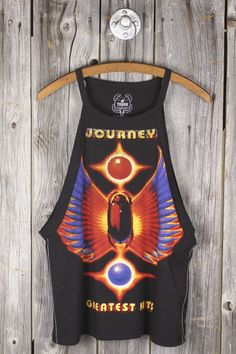 TRUNK LTD Journey's Greatest Hits Raw Edge Tank Spring Summer Fashion, Autumn Fashion, Fall Outfits, Cute Outfits, City Style, Custom Clothes, Diy Fashion, Raw Edge, Greatest Hits