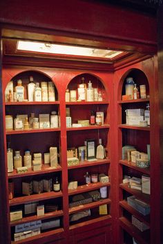 Farmacia at Gabriele d'Annunzio's Vittoriale degli Italiani, Lombardy, Italy.