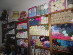 WOW! Yarn collection/stash and knit/crochet books.