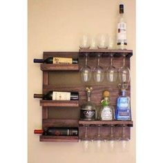 Rustic Dark Cherry Stained Wall Mounted Wine Rack with Shelves and Decorative Mesh, Wine and Liquor Shelf and Cabinet ON SALE Rustic Dark Cherry Stained Wall Mounted Wine Rack with by TheKnottyShelf Pallet Projects, Home Projects, Woodworking Projects, Teds Woodworking, Woodworking Classes, Popular Woodworking, Woodworking Videos, Woodworking Patterns, Craft Projects