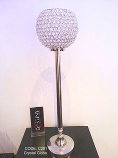 Crystal Globe Wedding & Events Centerpiece for Hire / Rent