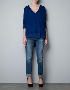JUMPER WITH SILK INTERIOR - Knitwear - Woman - ZARA United States