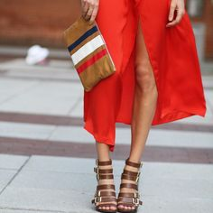 Fourth of July Outfit: Marissa Webb dress and Clare V. Clutch via Rent the runway.