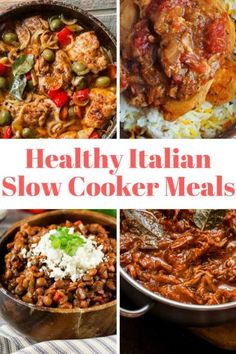 Healthy Italian Slow Cooker Recipes for bolognese, lasagna, beef ragu, chicken caccaitore, and more Italian classics that are made right in the crockpot.