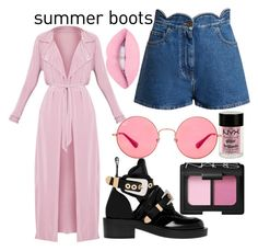 """Summer pink"" by luisa-katerina on Polyvore featuring Balenciaga, Valentino, NARS Cosmetics, Charlotte Russe and Ray-Ban"
