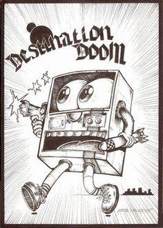"Saatchi Art Artist Simon Darlington; Drawing, ""Destination Doom"" #art"