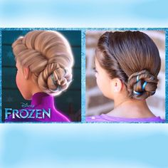 Love this Frozen Hairstyle for Elsa costumes! sparklysodastyle's profile on Instagram
