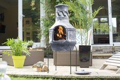 Glam up your garden with La Hacienda two-piece Chiminea - Luxuria Lifestyle Chiminea, Hand Painted, Patio, Garden, Outdoor Decor, Design, Home Decor, Haciendas, Garten