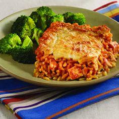 Chicken Parmesan Rice Casserole