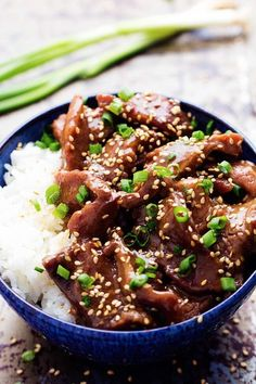 Slow Cooker Korean Beef Amazing and flavorful beef that slow cooks to tender melt in your mouth perfection! Korean Beef Recipes, Slow Cooker Korean Beef, Crock Pot Slow Cooker, Slow Cooker Recipes, Asian Recipes, Crockpot Recipes, Cooking Recipes, Healthy Recipes, Recipes Using Beef Broth