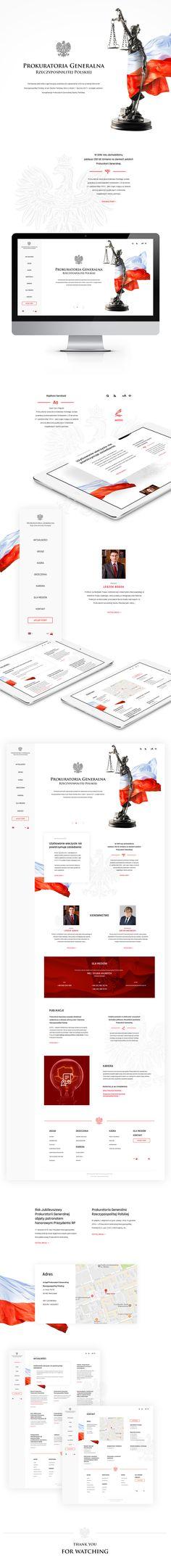 Public Prosecutor of Poland website concept on Behance