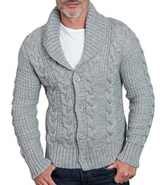 O-xel Men's Winter Shawl Collar Thick Twisted Knit Button up Cardigan Sweater  http://www.yearofstyle.com/o-xel-mens-winter-shawl-collar-thick-twisted-knit-button-up-cardigan-sweater-2/