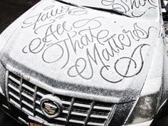 Artist Faust continues to produce work that is equal parts classic calligraphy…