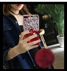 Diamond Gradient Color Plush Ball Phone Case – Phone case for girls Diy Phone Case, Iphone Cases, Ipod Touch Cases, Ball Decorations, Light Effect, Windows Phone, Samsung Galaxy S5, Phone Covers, Gradient Color