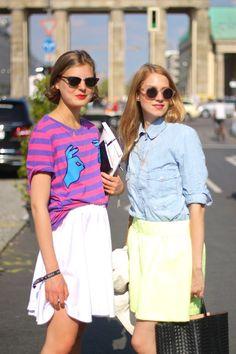 Berlin Fashion Week Street Style // Claire Beermann + Mirjana Goedicke