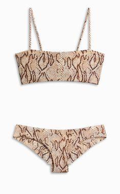 71c33a0909 Boys + Arrows // Hezeus Bikini Top – Boa Snakeskin Print + Kiki Seamless  Swim