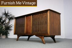 Vintage 1950s RCA Victor VHT33W Record Player Console Stereo Furnish Me Vintage