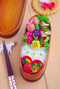 Beautiful Flower bento