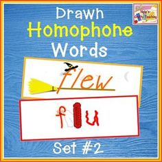 Drawn homophones word wall - Set 2 $ #ela