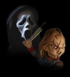 Chucky And Ghostface by ~BlueValleyStudiosArt on deviantART