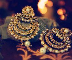 chandbali indian wedding bridal earrings