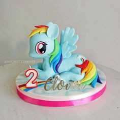 ❥ My Little Pony   Cake #RainbowDash