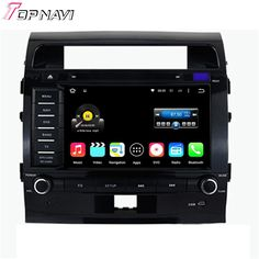 8'' Quad Core Android 5.1.1 Car GPS For Land Cruiser 200 2008 2009 2010 2011 2012 With Radio Multimedia Stereo DVD Free Shipping