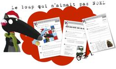 Le Loup qui n'aimait pas Noël chez Bout de gomme - French Teacher, Teaching French, Core French, French Classroom, French Resources, French Immersion, Theme Noel, Teaching Activities, Word Work