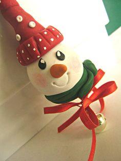 Decorazione Albero Natale - Pupazzo di neve. $10,00, via Etsy.