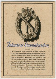KAMPFABZEICHEN - Nr. 1 Infanterie-Sturmabzeichen postcard