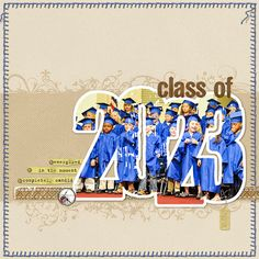 clever, clever idea for graduation page - I guess I need to start preparing…