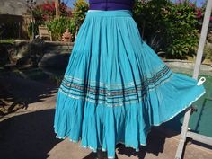Vintage 1950s squaw patio skirt full circle by DesignsintheDesert