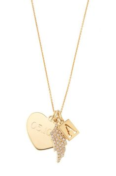 Love is all around. Add your personal touch to this engravable Heart Charm, Soho Letter Charm & Watch Over You Charm| Stella & Dot