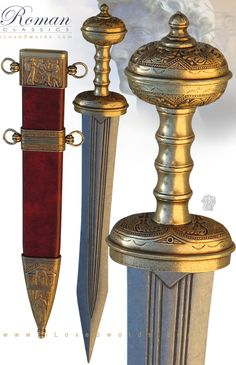 NobleWares Large Image of Roman Gladius Sword 4116L with Red Sheath by Denix of…
