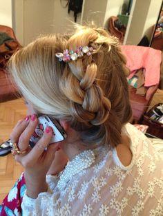 Peinado con trenzas, romantic style ❤️